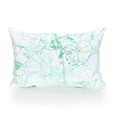 Marble Vein Outdoor Lumbar Pillow Color: Kelly Green