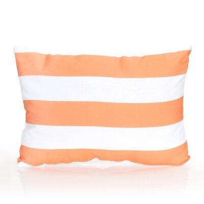 Cabana Stripe Outdoor Lumbar Pillow Color: Orange