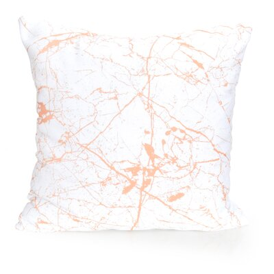 Marble Vein Outdoor Throw Pillow Size: 20 H x 20 W x 2 D, Color: Orange