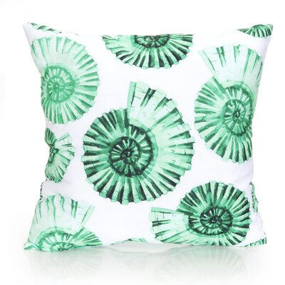 Nautilus Shell Outdoor Throw Pillow Size: 20 H x 20 W x 2 D, Color: Kelly Green