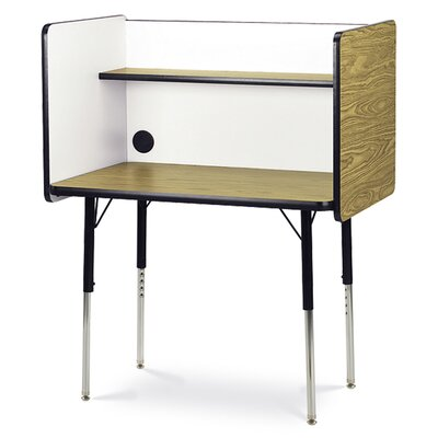 4000 Series Wood Adjustable Height Study Carrel 402436SC