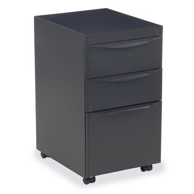 Plateau Series 3-Drawer Mobile Pedestal Unit PDM1519BBFS