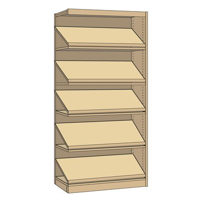 Single Faced Library Periodical Bookcase picture
