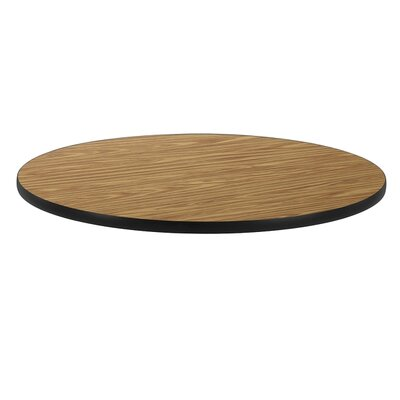 36 Round Gathering Table Top Color: Medium Oak