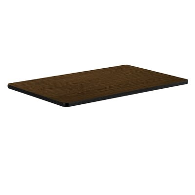 48 Rectangular Caf� Top Laminate/Banding: Walnut//Charcoal Black