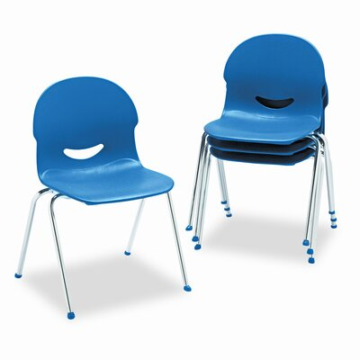 I.Q. Series Armless Stacking Guest Chair Seat Finish: Navy