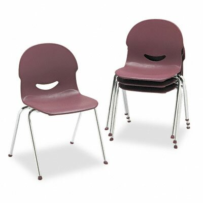 I.Q. Series Armless Stacking Guest Chair Seat Finish: Wine