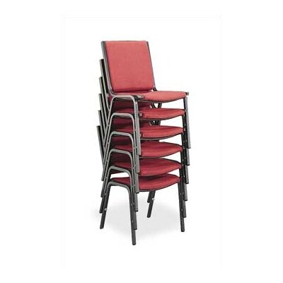 Comfort Armless Stacking Chair (Set of 4) Seat Finish: Burgundy