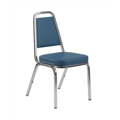 Virco Armless Office Stacking Chair - Seat Finish: Sedona Sailor Frame Finish: Silver Mist