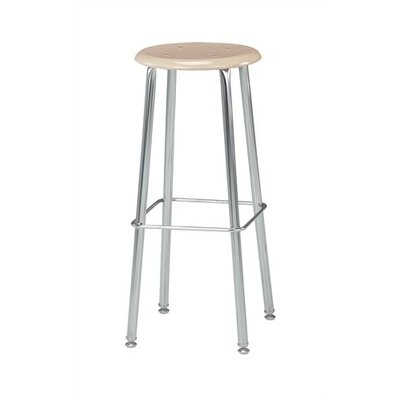 """Virco Height Adjustable Stool with Saddle Seat - Seat Color: Sandstone, Size: 30"""""""