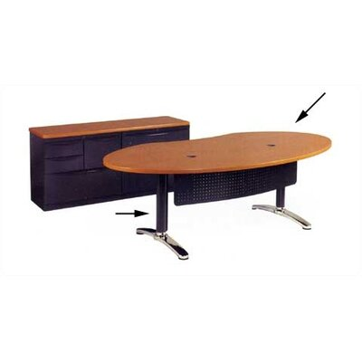 Plateau Series Ellipse Desk Shell with Bi-Point Legs Product Picture 81