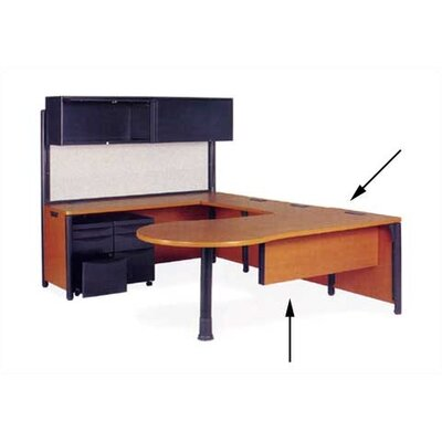 Plateau Series 29 H x 76 W Desk Peninsula Leg Color: Char Black, Top/Side Color: Fusion Maple