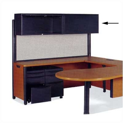 Plateau Series 22 H x 72 W Desk Hutch Finish: Char Black