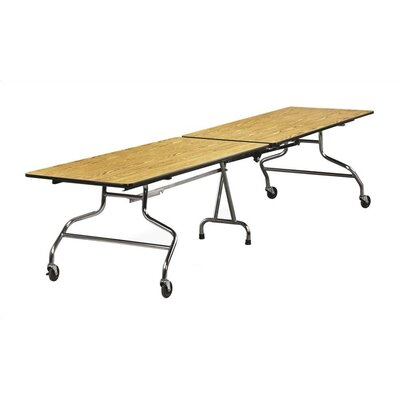 96'' x 30'' Rectangular Cafeteria Table Tabletop Color: Grey Nebula MT3096/chrome/grey nebula