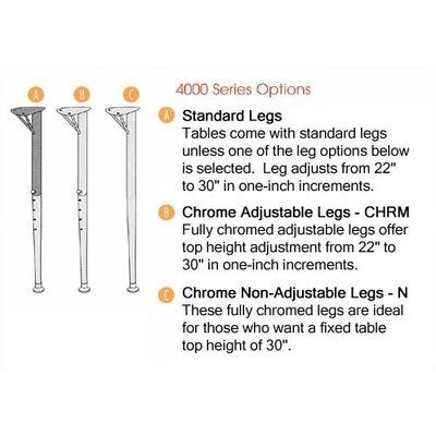 "4000 Series 48"" x 24"" Trapezoidal Activity Table Glides: Nylon Glides, Tabletop Finish: Fusion Maple 48TRAP48-MPL385"
