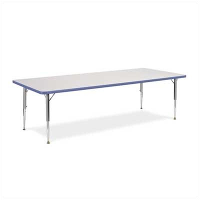 """4000 Series Rectangular Activity Table Side Finish: Squash, Table Size: 30"""" x 48"""", Tabletop Color: Grey Nebula 48LO3048LO-GRY091-YLW47-GRY02"""