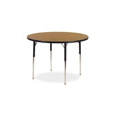 "4000 Series 48"" Circular Activity Table 4848RLOCHRM-OAK084"