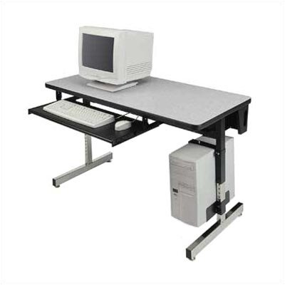 48 W 8700 Series Height Adjustable Computer Table Tabletop Finish: Grey Nebula