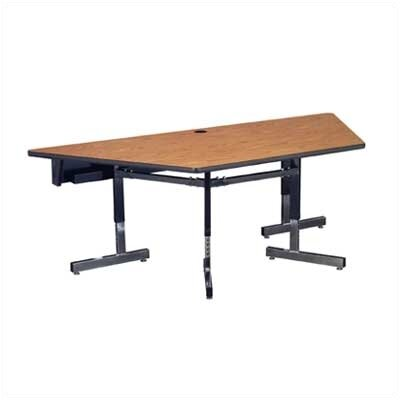 48 W 8700 Series Adjustable Training Table with Leg Glides Tabletop Finish: Medium Oak, Size: 48 W x 24 D