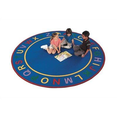 Children's Blue Alpha Area Rug Rug Size: Square 9'