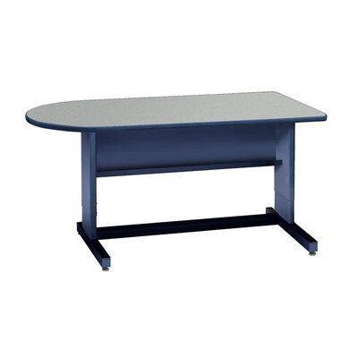 Bullet Desk Shell Color Combinations: Grey top/ Navy edge banding/ Navy frame Product Picture 5575