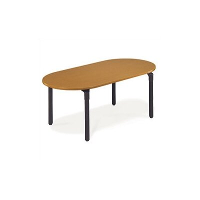 36 W Plateau Series Training Table Tabletop Finish: Medium Oak, Base Finish: Char Black