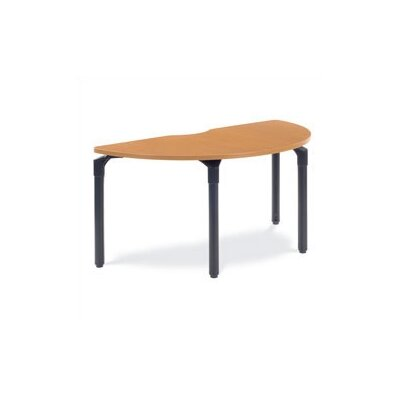 60 W Plateau Series Training Table with Wheels Base Finish: Char Black, Tabletop Finish: Carmel Sagawood