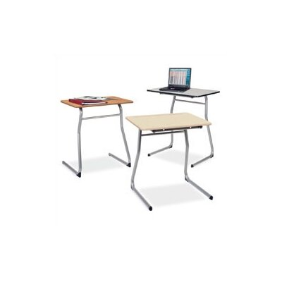 "Virco Sigma Series 25"" Open-View Student Desk -Frame Finish:Chrome, Desk Finish:Grey Nebula Hard Plastic, Storage Accessories:Bookrack at Sears.com"