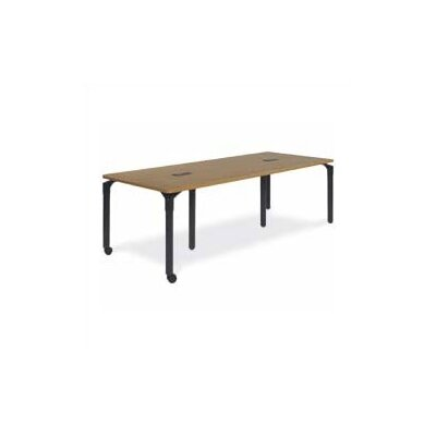 Plateau Series 7.5' Rectangular Conference Table Frame Color: Silver Mist, Grommet Holes: None, Tabl Product Image 117