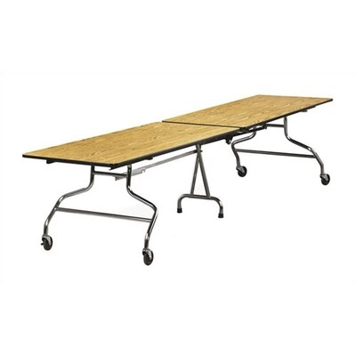 "Rectangular Cafeteria Table Tabletop Color: Grey Nebula, Size: 30"" x 96"", Edge Type: T-Mold MT3096-GRY091"