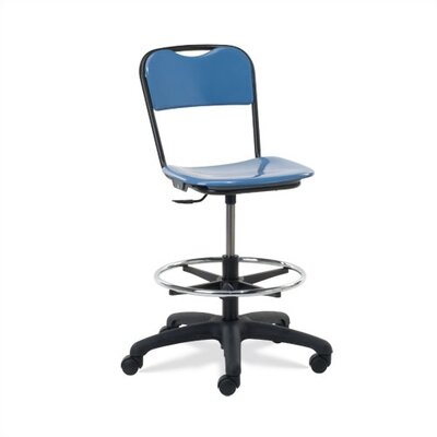 Height Adjustable Lab Stool Casters 8376 Product Photo