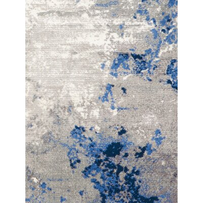 Twilight Blue/Grey Indoor Area Rug
