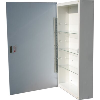 Raised Panel 16 x 26 Surface Mount Medicine Cabinet