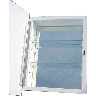 Yancy 16.18 x 22.25 White Recessed Medicine Cabinet