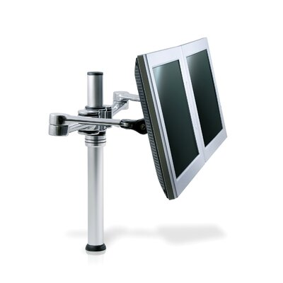 Visidec Articulated Arm Height Adjustable 2 Screen Pole Mount
