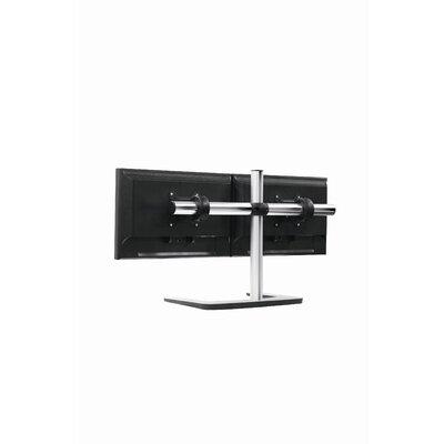 Visidec Freestanding Double Horizontal Monitor Mount Height Adjustable 2 Screen Desk Mount