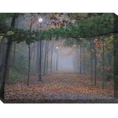 Evening Mist Wrapped Photographic Print on Canvas