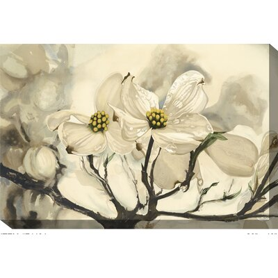 West Of The Wind Dogwood Watercolor Outdoor Canvas Art