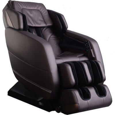 Evoke Zero Gravity Massage Chair Color: Brown