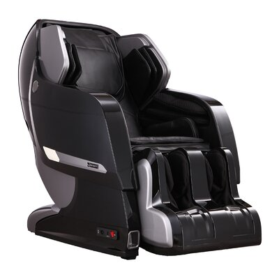 Infinity IT-Iyashi PU Leather Reclining Massage Chair Upholstery: Black (with Black Shell)