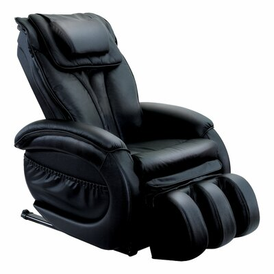 Infinity IT-9800 Leather Zero Gravity Reclining Massage Chair Upholstery: Black