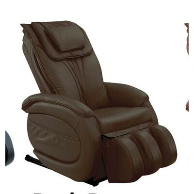 Infinity IT-9800 Leather Zero Gravity Reclining Massage Chair Upholstery: Dark Brown