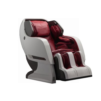 Infinity IT-Iyashi PU Leather Reclining Massage Chair Upholstery: Red