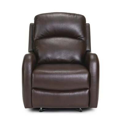 Galen Manual Wall Hugger Recliner Upholstery: Dark Brown