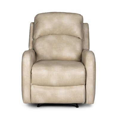 Galen Recliner Upholstery: Beige