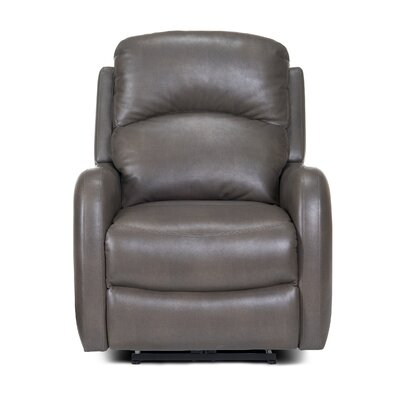 Galen Manual Wall Hugger Recliner Upholstery: Gray