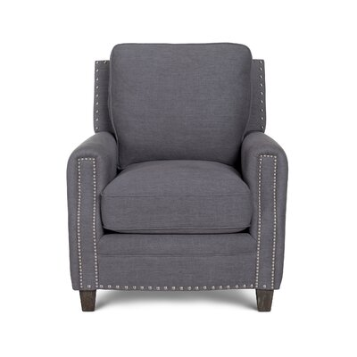 Bradford II Linen Armchair Color: Gray
