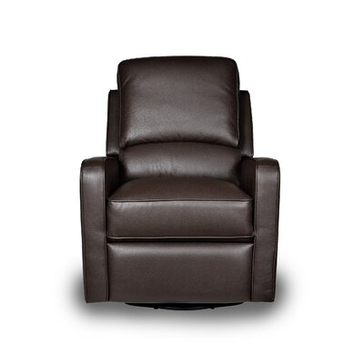 Perth Manual Swivel Glider Recliner Upholstery: Mocha