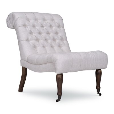 Braxton Armless Slipper Chair Upholstery: Brussels Linen