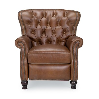 Gervais Cambridge Leather Recliner Upholstery: Shalimar Saddle